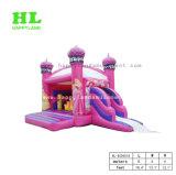 De elegante roze-Purpere Opblaasbare Uitsmijter Combo van het Kasteel van de Prinses met Dia
