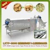 Grand type spirale Washer&Peeler végétal, lavage de pomme de terre, machine d'écaillement Lxtp-3000