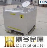 Cubes de qualité alimentaire de 1000 litres de boissons fourre-tout GRV en acier inoxydable