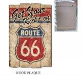 Оптовая деревянная металлическая пластинка с старыми конструкциями трассы 66 для декора стены