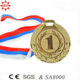 Kundenspezifisches Sport Gold Metal Medal mit Free Ribbon
