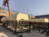 安全操作の40トンからの競争価格の100トンへの低レベルの水平のセメント・サイロ