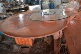 円卓会議の平らな磨かれた端のゆとりの緩和された宴会のテーブルの上ガラスの卸売