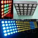 RGBW 5X5 Cel 30W 25 헤드 LED 매트릭스 곁눈 가리개 빛