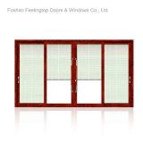 Ventana de desplazamiento europea del aluminio de la doble vidriera del estilo (FT-W85)