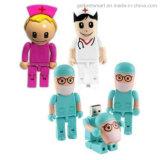 Azionamento dei dottori Robot Pen Drive USB Flash della plastica per il regalo