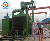 Máquina de sopro de areia da indústria com transportador de rolos