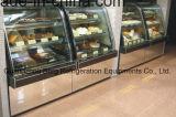 Het dubbele Gebogen Glas koelt de Showcase van de Cake van de Vertoning met Ce
