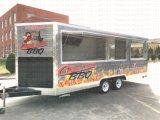 Bestelwagen van de Verkoop van het Roomijs van Kebab van het Sap van de Bank van het fiberglas de Mobiele met 4 Wielen