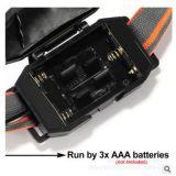 360 Detatchable регулировки веса Mini 3W фары с задней стороны 3 батарей типа AAA
