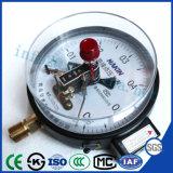 Commerce de gros noir ordinaire Shell manomètre de pression de contact électrique
