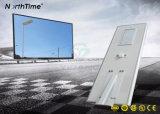 70 vatios de energía Solar LED de control de la aplicación del sensor de movimiento de la luz de la calle