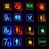 Segno chiaro di alluminio dell'uscita di sicurezza del segno della toletta di WiFi dell'indicatore luminoso Emergency del LED