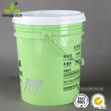 5 colorati Gallon Food Grade Plastic Paint Pail con Lid