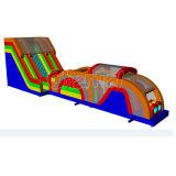 新しいデザイン巨大で膨脹可能で極度な突進のスライドの障害物コースChob323