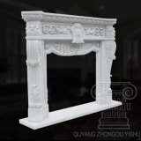 Scultura di marmo bianca intagliata Hand- del camino del Hunan di grande qualità