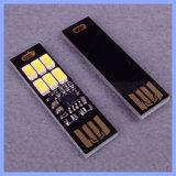 Portable 6 LED 5730 접촉 제광기 차가운 온난한 소형 USB 빛