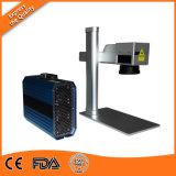 Máquina de grabado de la etiqueta de plástico del laser de la fibra para la marca del laser del metal