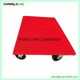Carrello mobile della piattaforma di superficie rossa della gomma solida