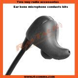 Conduction osseuse Headsets avec des PTTs de Big pour 2pin Radios