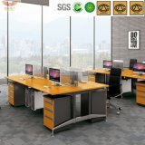 Edge diritto Bright Yellow Bamboo Office Executive Desk Certificated dal Fsc (HY-H60-0103)