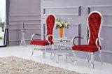 Cadeiras luxuosas luxuosas de luxo em aço inoxidável com cadeiras ergonômicas com apoio de braços