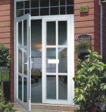 Doppio portello di vetro lustrato ampiamente usato della stoffa per tendine di alluminio rivestita della polvere (ACD-015)