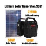 Portabel Power Generation générateur d'énergie solaire 100W avec panneau solaire
