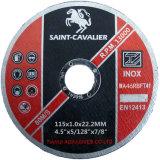 스테인리스 (Inox)를 위한 최고 얇은 절단 디스크 115X1X22.2