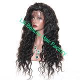 Lili 아름다움 머리 자연적인 색깔 전 아기 머리로 뽑아지는 브라질 가득 차있는 레이스 가발