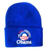 折られたトリムNTD010が付いている編まれた帽子
