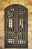 Bearbeitetes Eisen-Tür Sidelites Querbalken-Eintrag-Haustüren