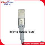 Cabo de dados do iPhone do conetor do USB do TPE do dispositivo dos acessórios do telefone móvel