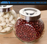 380ml Plat-A dégrossi la nourriture en verre, casse-croûte, sucrerie, boîte épicée