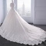 weg von der Schulter-Spitze, die Brautkleid-Hochzeits-Kleider bördelt