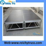 Étape noire d'aluminium de panneau d'étape d'épaisseur de la plate-forme 18mm d'étape