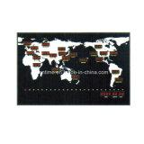 Klok van de Tijdzone van de elektrische LEIDENE de Digitale Muur Opgezette Kaart van de Wereld
