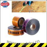 El papel de aluminio advertencia detectable de metro de cinta para la protección de cables de fibra