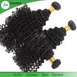 黒人女性のための深い波のインドのバージンの人間の毛髪のよこ糸