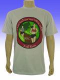 T-shirts blancs d'impression en vrac bon marché fait sur commande d'usine