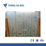 Ácido temperado vidro gravado para banheiro / Office