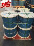 Гальванизированная веревочка стального провода для строительного материала 7X19