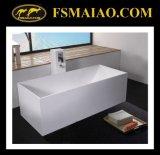 Libre superficial sólido de la bañera blanca del rectángulo (BS-8617)