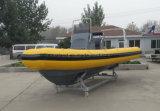 Bote de salvamento de Aqualand 19feet los 5.8m/patrulla inflables rígidos de la costilla (RIB580T)