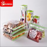 Zoll gedruckte Nahrungsmittelverpackungs-Plastiktasche mit Reißverschluss