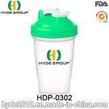 400ml BPA liberano la bottiglia di plastica dell'agitatore del miscelatore, bottiglia personalizzata dell'agitatore della proteina dei pp (HDP-0302)