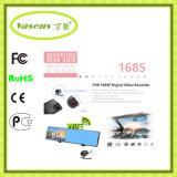 FHD 1080P удваивают автомобиль DVR видеозаписывающего устройства зеркала Rearview объектива