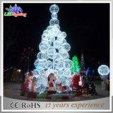 luz branca morna ao ar livre da árvore de Natal do diodo emissor de luz do metal da decoração da esfera de 20FT