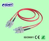 LC/UPC-LC/UPC het duplexOM3 50/125 Koord van het Flard van de Vezel
