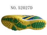 Numéro 52027 Football Stock Shoes 32-45# de couleurs gosse jaune et de Madame